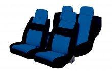 komplet pokrowców tuningowych autosport, niebieski