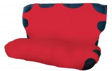 koszulka bawełniana czerwona na tylne siedzenie